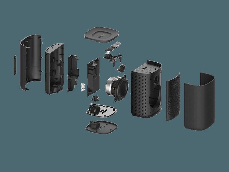 Internal view of Roku TV Wireless Speakers