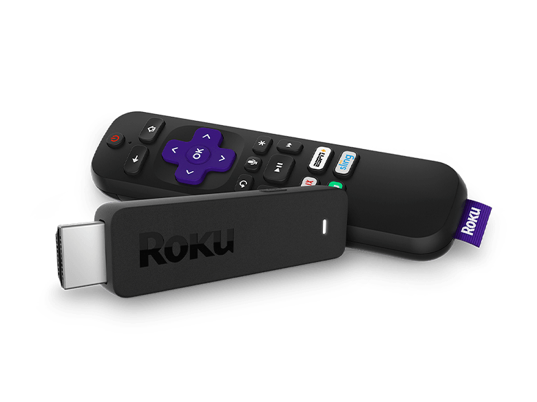 Roku® Streaming Stick® player and remote