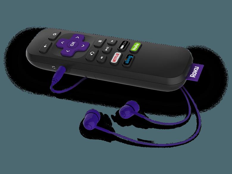 Roku Premiere+ - Remote with headphones
