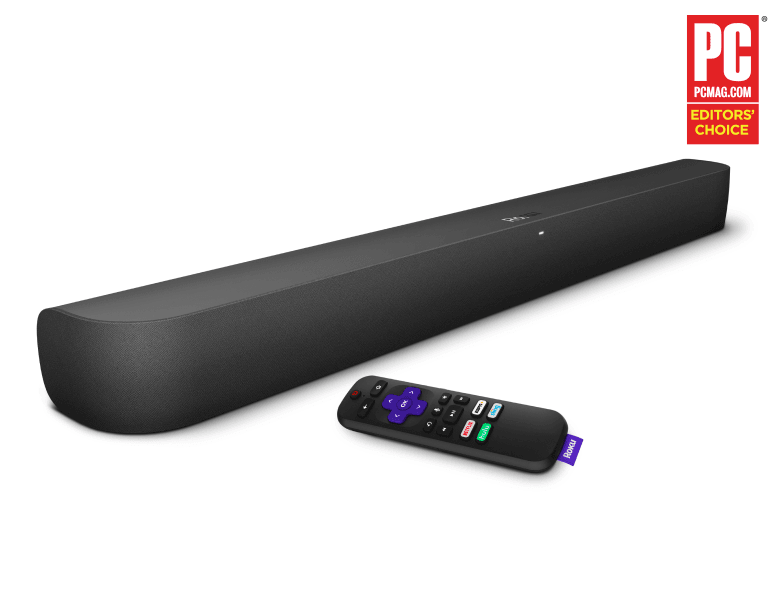 Look before you buy: Roku Smart Soundbar at an angle