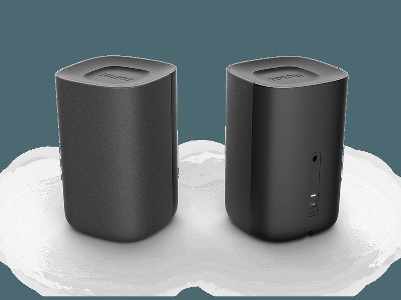Look before you buy: rear view of Roku TV Wireless Speakers