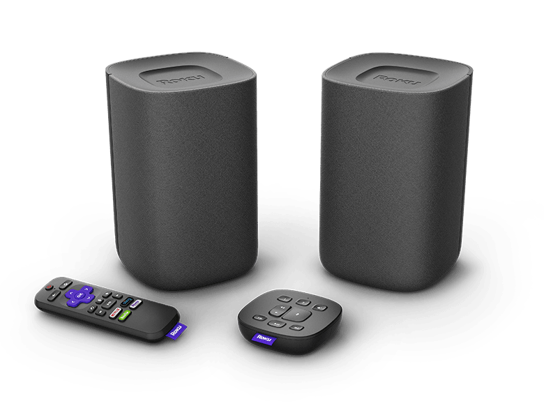 Look before you buy: Roku TV Wireless Speakers with the included voice remote and Roku Touch tabletop remote