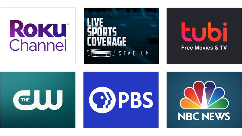 Free TV channels you don't have to buy a subscription to enjoy on your Roku® Streaming Stick®+, like ABC News, Pandora, The CW, PBS, and NBC News.