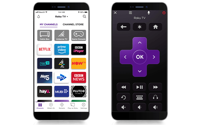 Roku Mobile app on a phone