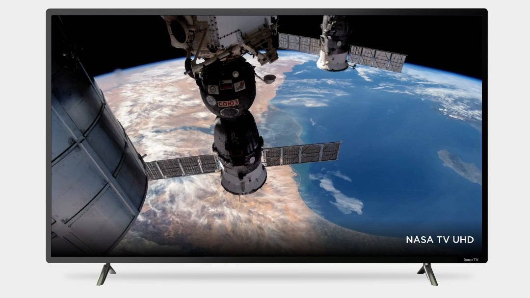 Look before you buy: Roku TV showing an image from space
