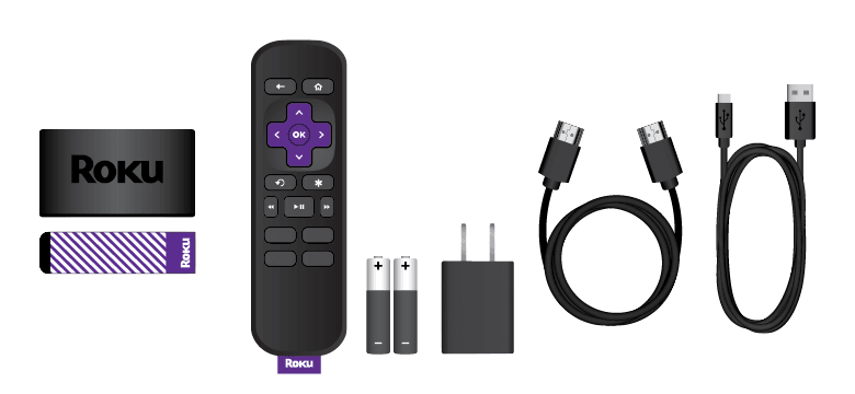 All items in the box when you buy Roku Express