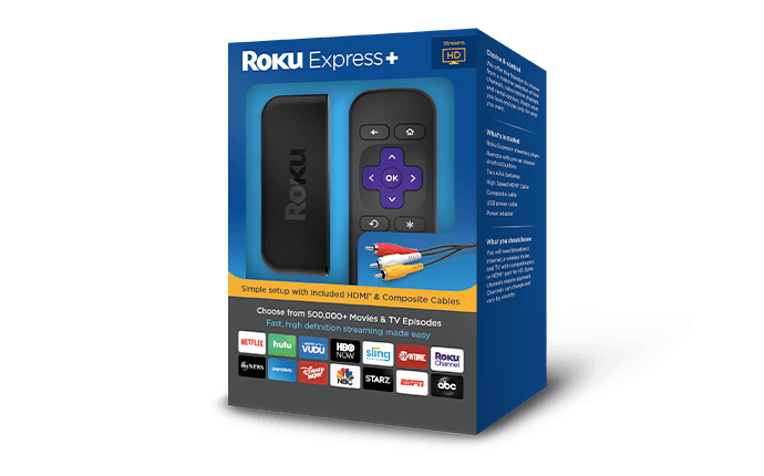 Roku Express+ (2018) Packaging