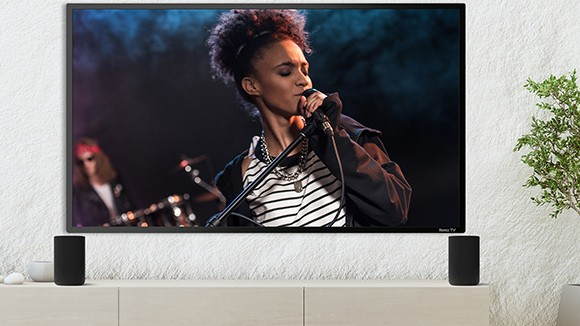 TV featuring a person singing