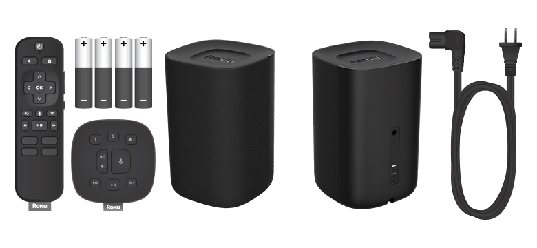 All items in the box when you buy Roku TV Wireless Speakers