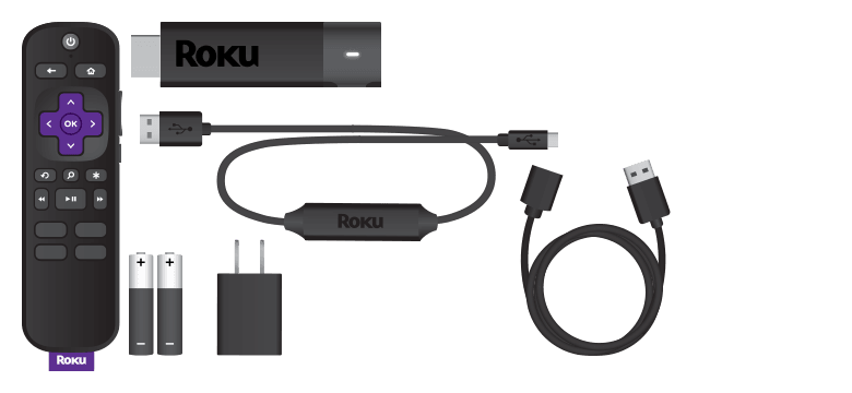 Items included when you purchase a Roku® Streaming Stick®+