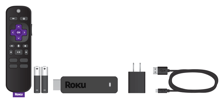 Items included when you purchase a Roku Express+ 2018