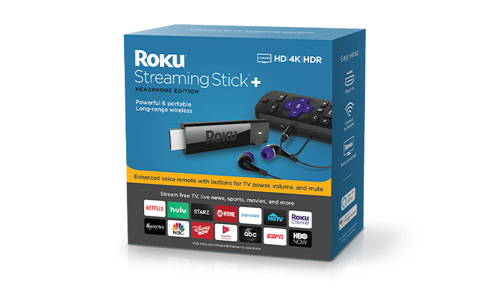 Roku® Streaming Stick®+ Headphone Edition Packaging