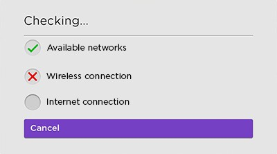 Checking the connection message - red x on wireless connection